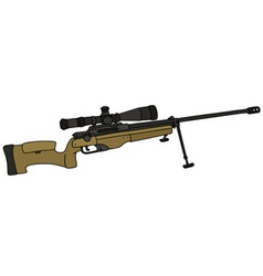 sand sniper rifle vector image