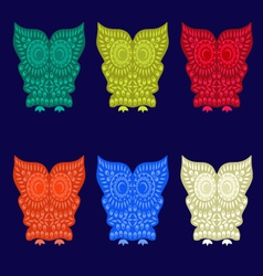 set of Cute Owl Characters vector image