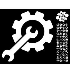 Setup Tools Icon with Tools Bonus vector