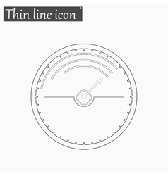 Speedometer icon Style thin line vector image