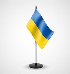 Table flag ukraine vector