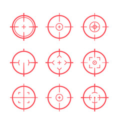 Target aim icons military set crosshair target vector