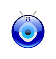 Turkish eye amulet isolated on white vector image