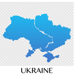 Ukraine map in europe continent design vector
