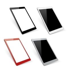 Varicoloured tablet mockups vector image