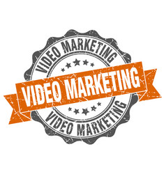 Video marketing stamp sign seal vector