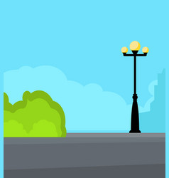 Vintage streetlight on the street vector