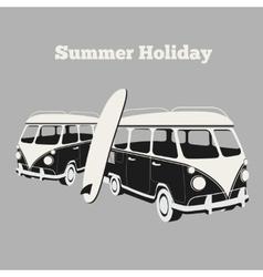 Vintage surf poster vector