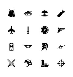 war - flat icons vector image