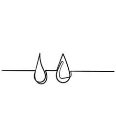 water drops icon liquid drop symbol vector image