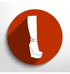 woman boots web icon vector image