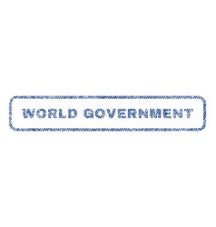 World government textile stamp vector