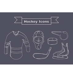 Hockey Sportswear Objects Line art vector image vector image