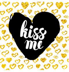 kiss me postcard design vector image