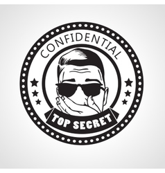 round Confidential top secret stamp or vector image