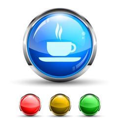 Cafe Button vector image vector image