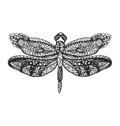Dragonfly stencil pattern vector image