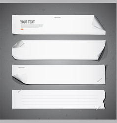 White paper Long collections vector image vector image