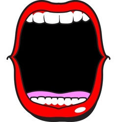 Wide open mouth vector