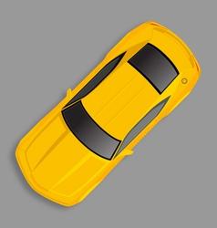 yellow chevrolet camaro vector image