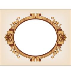Decorative oval vintage frame vector image vector image