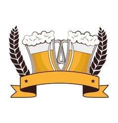 fresh beer drink icon vector image vector image