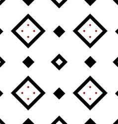 Seamless geometric pattern in black and red vector image vector image