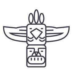 totemnative american line icon sign vector image
