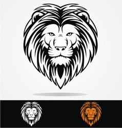 Tribal Lions Head vector image vector image