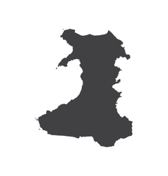 Wales map silhouette vector image