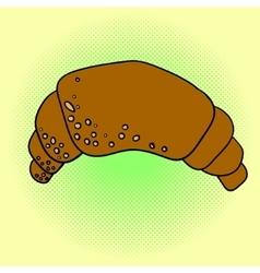 Croissant Pop art vector image