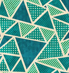 green color fabric seamless pattern with grunge vector image vector image