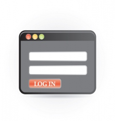 Log in icon vector