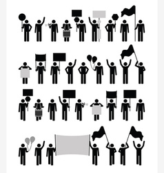 Protest - pictogram collection vector image vector image
