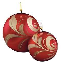 Red Christmas Candles vector image