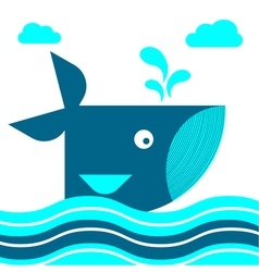 Whale Card 1 vector image