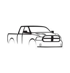4th gen ram quad cab sport hood silhouette vector image