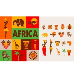 Africa - poster and background vector image
