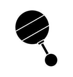 Baby rattler icon vector
