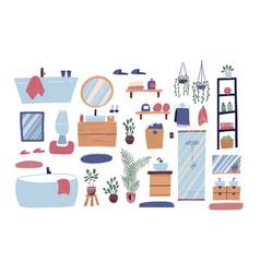 bathroom furniture set big collection vector image