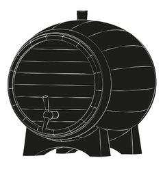 Beer barrel silhouette vector image