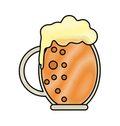 Beer glass design vector