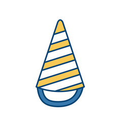 birthday hat symbol vector image