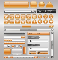 Blank buttons for website and app vector
