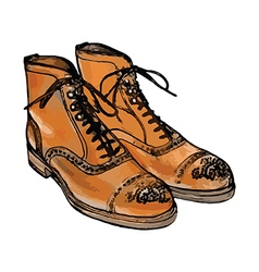 Brown boots art vector