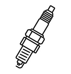 car spark plug icon outline style vector image