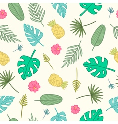 Cartoon tropical pattern vector