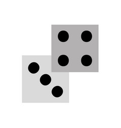 Casino dices isolated icon vector