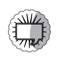 Chat bubble square icon stock vector