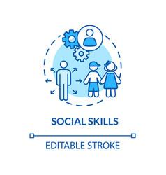 Children social skills concept icon vector